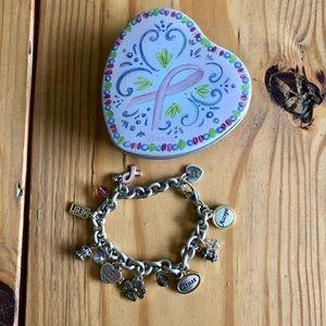 Brighton Breast Cancer Charm Bracelet